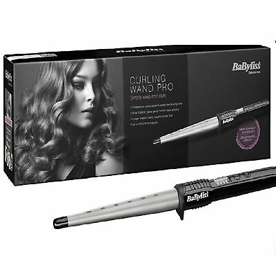 BaByliss Pro 2285CU Conical Ceramic Hair Curling Wand Salon Curler Tong Styler
