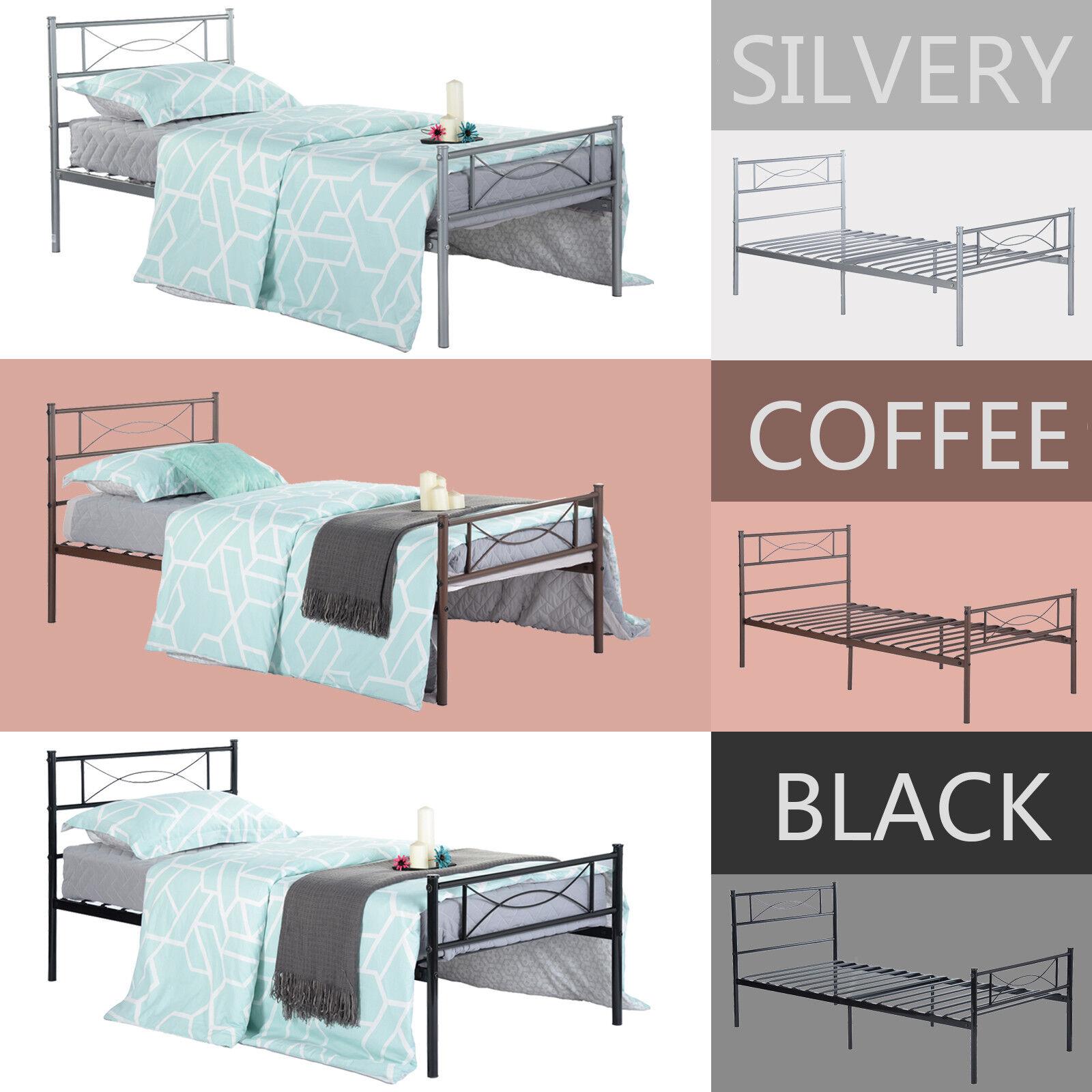 Twin Full Size Metal Bed Frame Bedroom Platform Mattress Fou