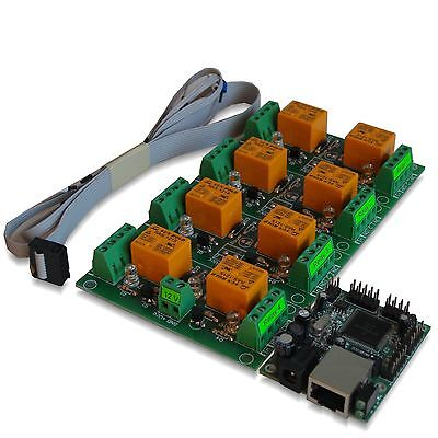 Eight8 Channel Relay Module Board For Remote Control - Lan Ethernet Snmp