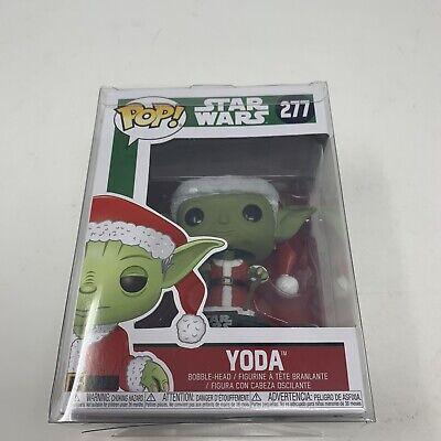 Funko POP Star Wars Yoda Christmas Santa Claus Rare Full Eyes#277 With Protector