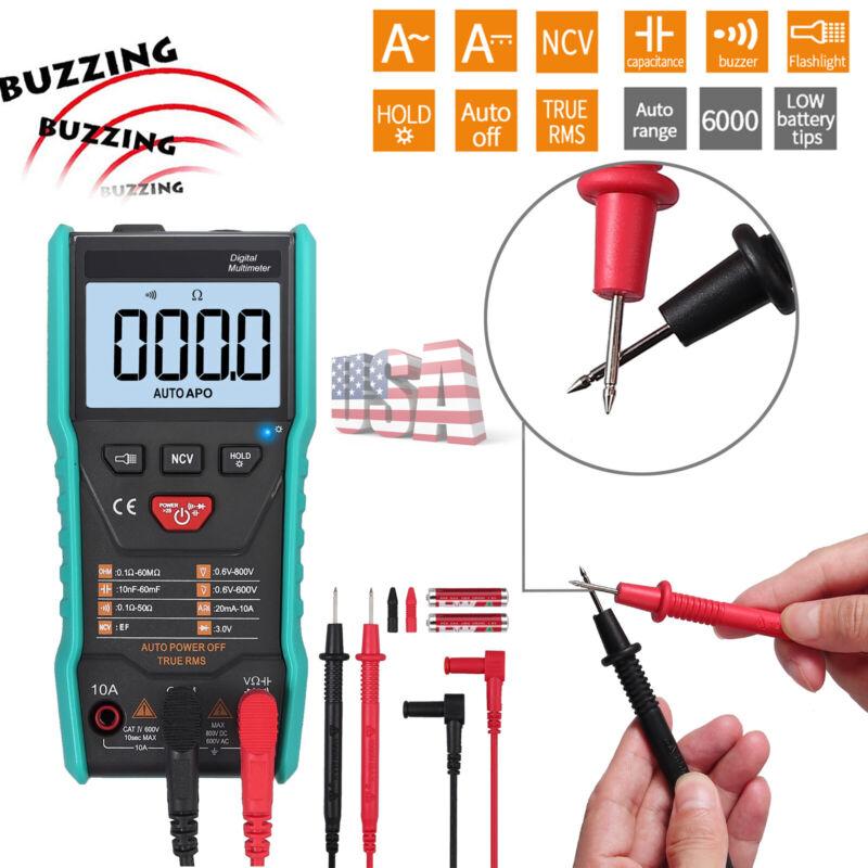 NEW NCV Digital Multimeter AC/DC Voltmeter Ammeter Ohmmeter Auto Range True RMS