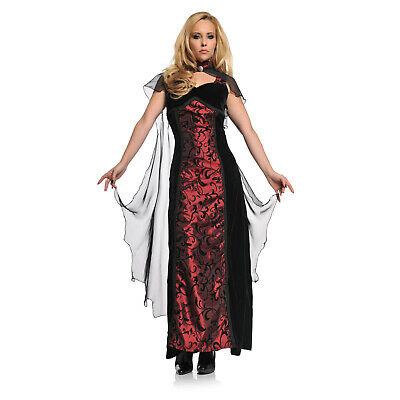 Adult Women's Gothic Red Renaissance Vampire Queen Halloween Costume Dress S-XL](Renaissance Vampire Costume)