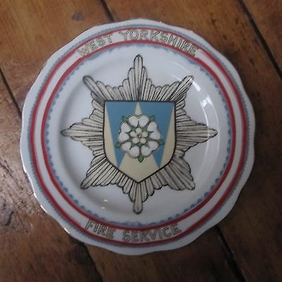 West Yorkshire Fire Service Limited Collectable Plate Jenny Hinchliffe
