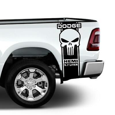 Dodge Ram 1500 2500 350 Hemi Rear Truck Bed Decal Racing Vinyl Stripes Sticker#5