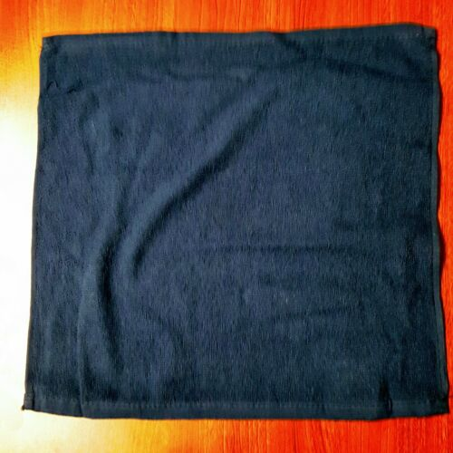 "Towels 15"" x 15""  - 120 Navy Towels 100% Cotton All Terry Hemmed"