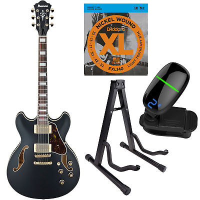 Ibanez AS73G Artcore Series Hollow-Body Electric Guitar BK w/String, tuner&Stand for sale  New York