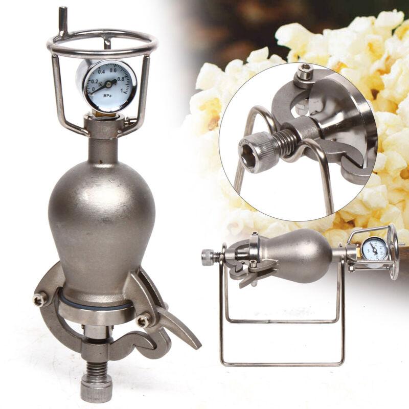 Traditional Popcorn Machine, Mini Hand Crank Food Amplifier (Stainless Steel)