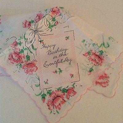 New Happy Birthday Handkerchief ~ Elegant Birthday Hankie!