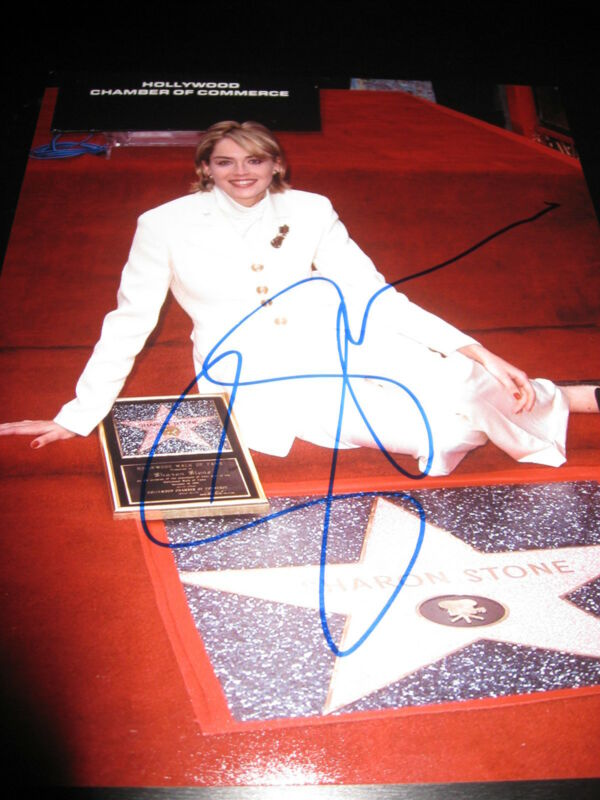 SHARON STONE SIGNED AUTOGRAPH 8x10 PHOTO BASIC INSTINCT BABE HOT SEXY COA E