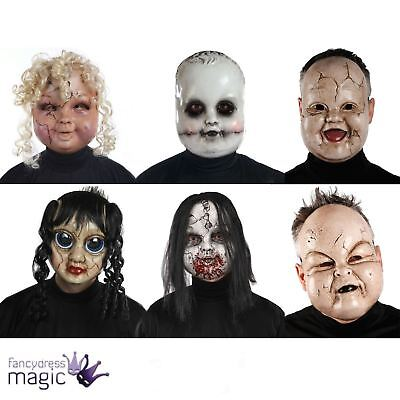 Adult Scary Baby Doll Zombie Horror Mask Halloween Fancy Dress Costume Accessory - Baby Doll Dress Costume