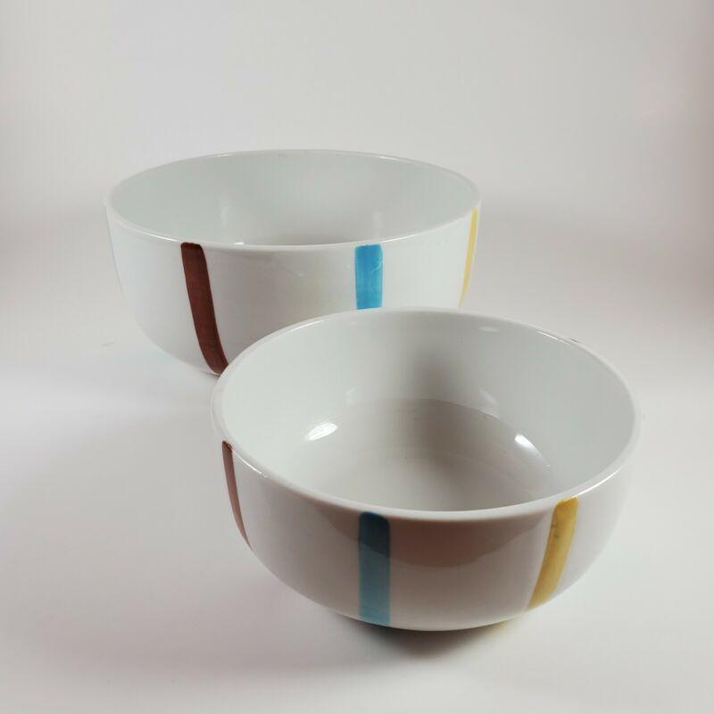 """MCM ~de SPHINX (Parafeu)~ Set (2) serving/mixing bowls 4.75"""" and 6.5"""" ~ Holland"""