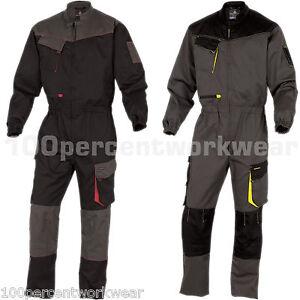 Delta-Plus-DMCOM-Mens-Work-Overalls-Boiler-Suit-Coveralls-Knee-Pockets-Mechanics