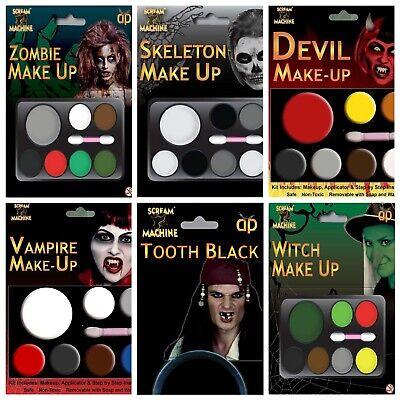 Halloween Fancy Dress Make Up Party Face Paint Kit Zombie Witch Devil Vampire