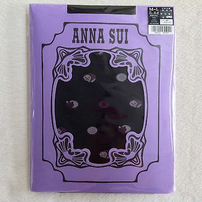 ANNA SUI Back Nylon Tights Cat • 50 Den • M-L JP • Made in Japan