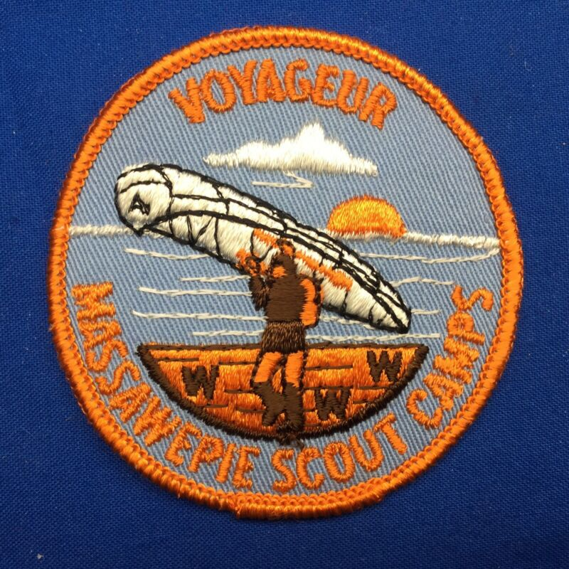 Boy Scout Massawepie Scout Camps Voyageur Patch NY Round WWW OA