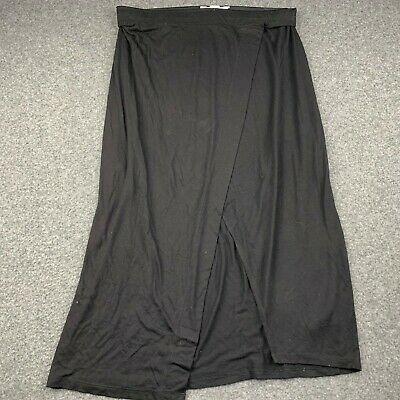 H&M BASICS WOMEN SIZE LARGE BLACK 100% VISCOSE DRESS EUC
