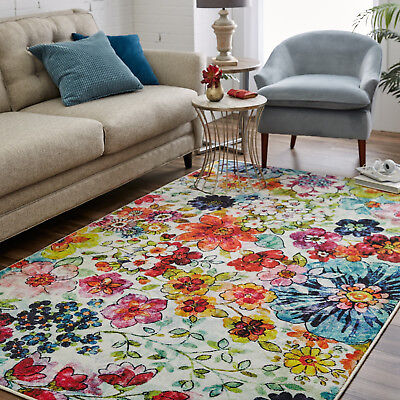 Transitional Floral Contemporary Multi-Color Area Rug **FREE SHIPPING** Floral Contemporary Rug
