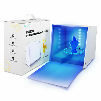 SUNLU UV Resin Curing Light Box For 3D Resin Printer with Driven Turntable DIY