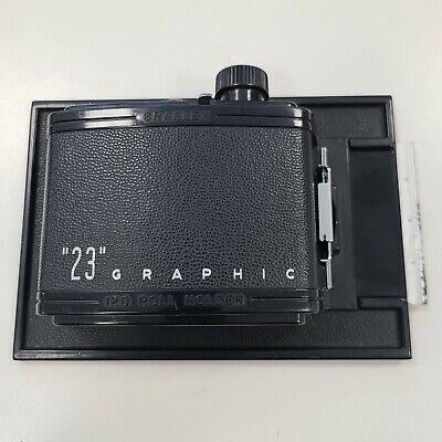 """""""23 Graphic"""" 120 Film Holder for 4x5 Speed / Crown Graphic, Graflex"""