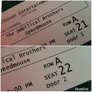 2 tickets to the Umbilical Brothers Nowra