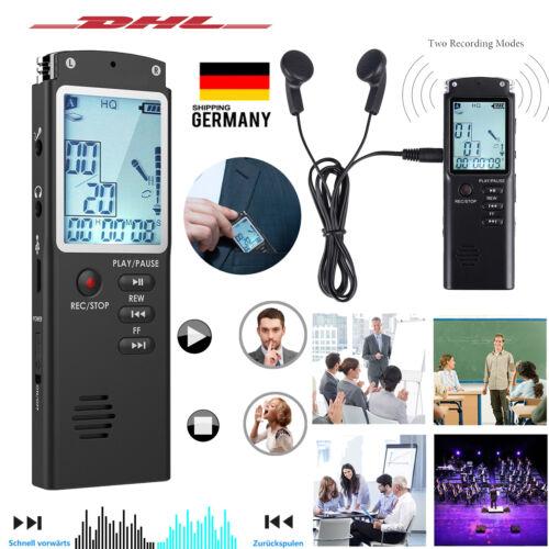 Diktiergerät Mini 16GB Digital Audio Voice Recorder Aufnahmegerät Sprachaufnahme