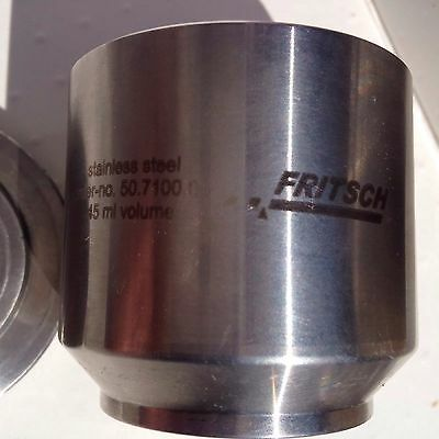 Fritsch Pulverisette Planetary Mill Mixer 45 Ml Grinding Jar Lid Freeship