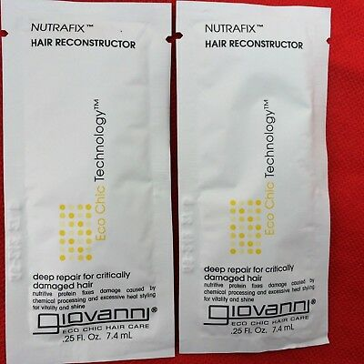 Giovanni Nutrafix Hair Reconstructor - .25 fl oz (2 SIMPLE PACKS)(MADE IN USA)