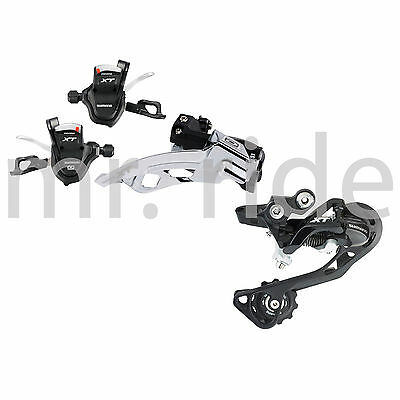mr-ride 2014 Shimano XT 3x10 Speed 3pc Group Set Shifter, Derailleur Top Black