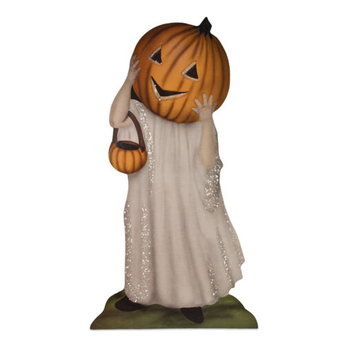 Bethany Lowe Ghost Jack Lantern Dummy Board Trick Or Treat Vntg Halloween Decor