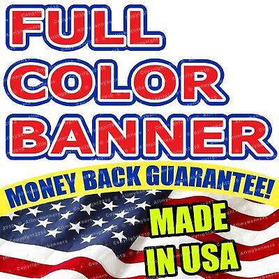 4x4 Banner Full Color Custom 13oz Vinyl High Quality Free Shipping Flg