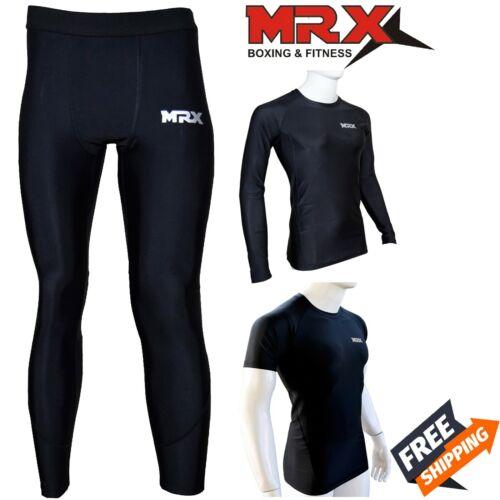 Mrx Compression Base Layer Long Shirt Tops Pants Running Training Workout Gym