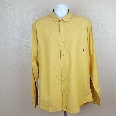 Billabong Mens Dress Shirt Long Sleeve Size XL Gold -