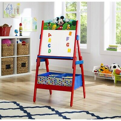 Easel For Kids Dry Erase Board Wooden Floor Portable Art Magnetic Mickey Mouse](Art Easel For Kids)