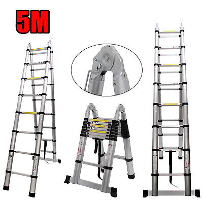 Multi-position Telescoping Ladder Extension Folding Roof Step Telescopic A Type