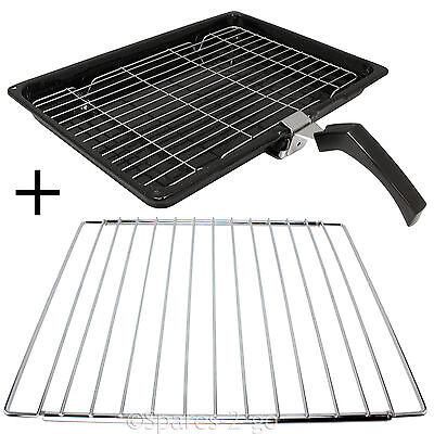Grill Pan + Handle + Rack + Adjustable Extendable Shelf for HOTPOINT Oven Cooker