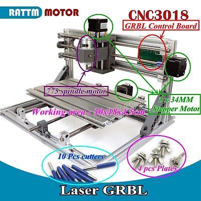 Cnc Mini 3018 Desktop Engraving Laser Machine Diy Grbl Pcb Wood Milling Router