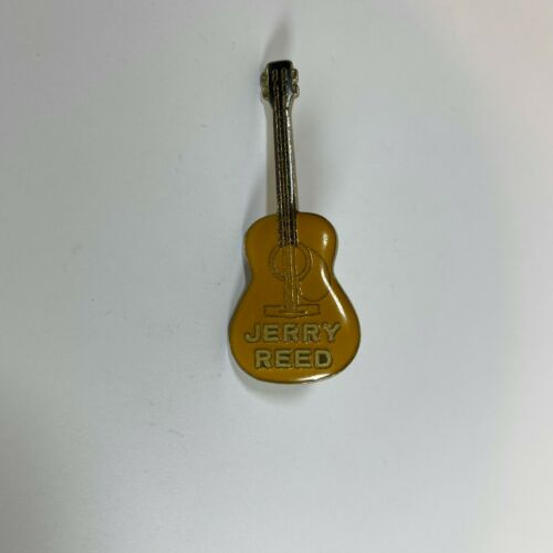 Jerry Reed Acoustic Guitar Lapel Pin Badge Vintage Rare Country Music