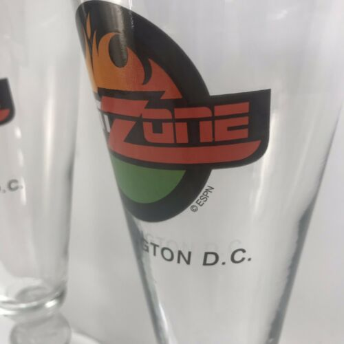 ESPN Zone Washington DC Set Of 2 Baseball Beer Mugs ESPN Sports Drink Glasses