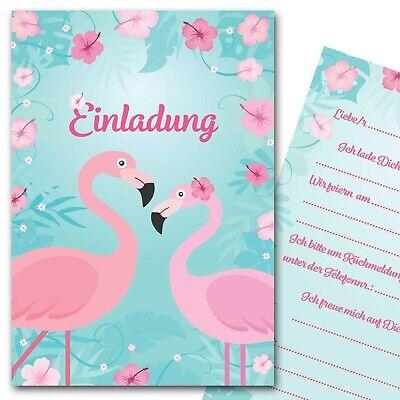 Einladungskarten Flamingo Sommerparty Einladungen Kindergeburtstag Mädchen ()