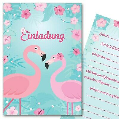 Einladungskarten Flamingo Sommerparty Einladungen Kindergeburtstag Mädchen