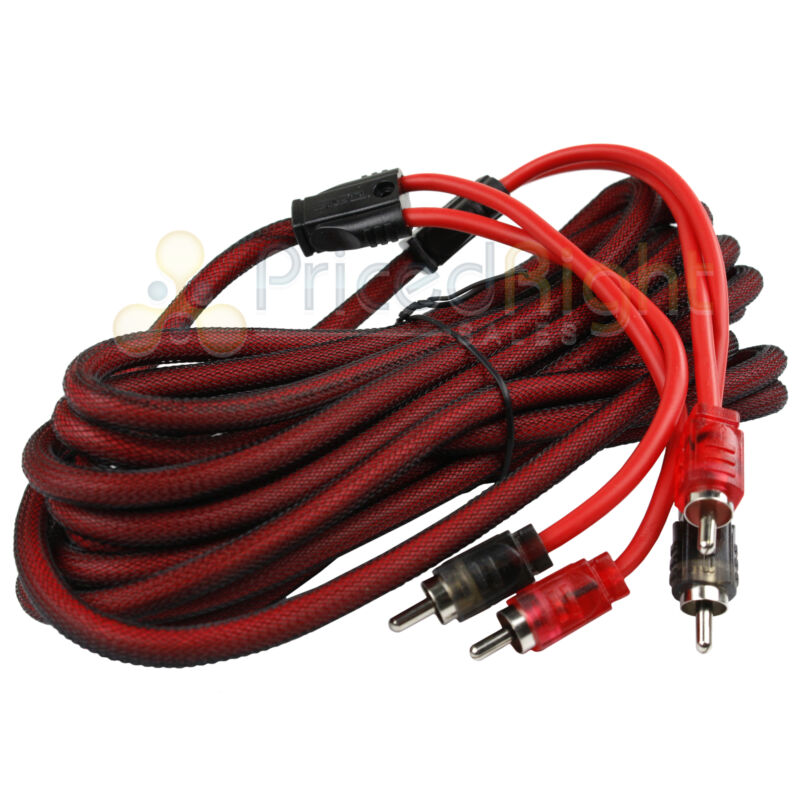 20 FT 2 Channel RCA Cable Interconnect Audio Cable Competition Rated DS18 R20