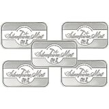 SilverTowne Mint Signature 1oz .999 Fine Silver Bar LOT of 5