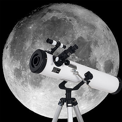 Space Traveler 700x76mm Reflector Astronomical Telescope Tripod and Eyepieces US
