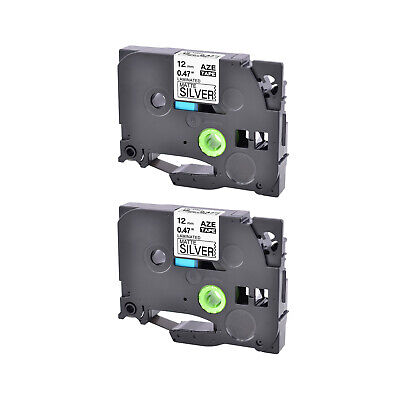 2pk Compatible With Brother P-touch Tz Tze-m931 0.47 Matt Silver Label Tape
