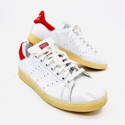 Adidas Originals Stan Smith Red White Terry Cloth Sneakers Mens Size 10.5