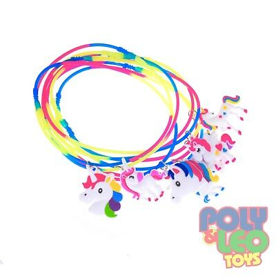 12 Pack Cartoon Unicorn Pendant Necklace Girls Party Supplies  - Necklace Supplies