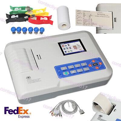 3-channel 12-lead Ecg Ekg Machine Ecg300g Electrocardiographsw Interpretation