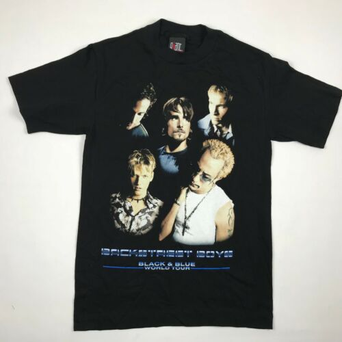 Backstreet Boys Black & Blue World Tour 2001 Graphic T Shirt sz. Small