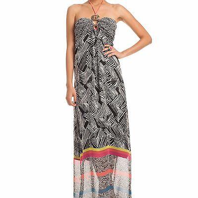 Trina Turk Belize Silk-Trim Maxi Dress (Size 10)