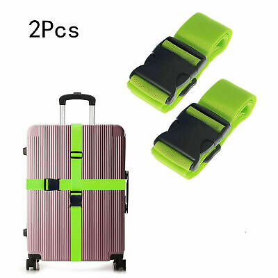 2x Travel Luggage Packing Belt Suitcase Strap Baggage Backpack Bag Straps US